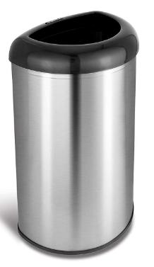 nine stars open top trash can