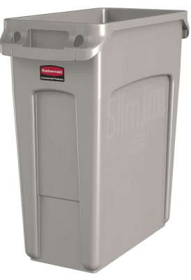 16 gallon slim jim trash can