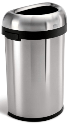 simplehuman open top trash can