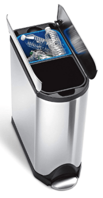 simplehuman trash can with recycling