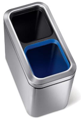 simplehuman slim open top trash can