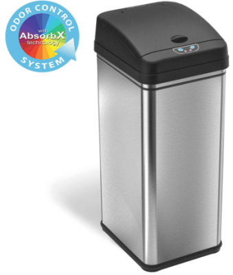 itouchless 13-gallon deodorizer sensor trash can
