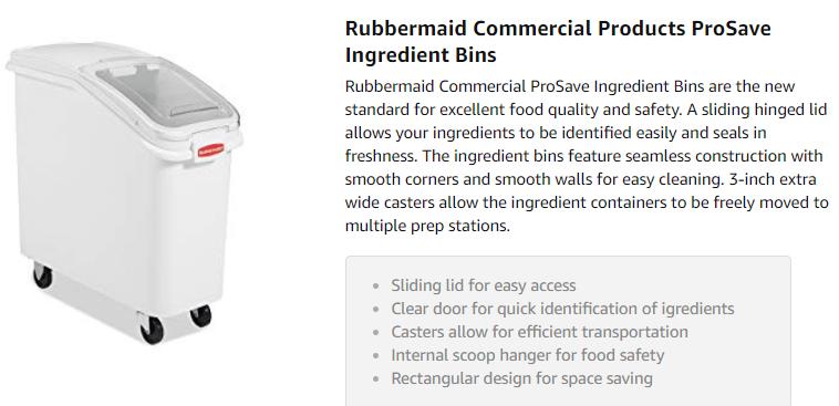 Rubbermaid Commercial trash Bin