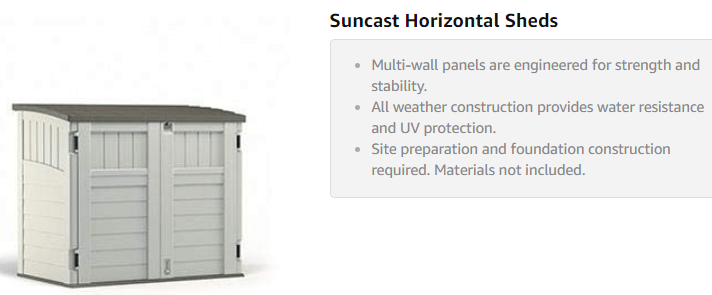 Outdoor Storage Shed - Suncast