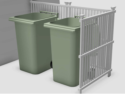 trash can enclosures outdoor designs
