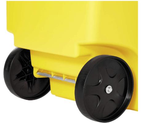 50 gallon trash can on wheels
