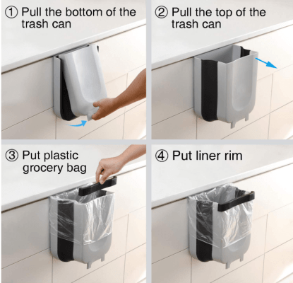 Hanging kitchen Trash Can