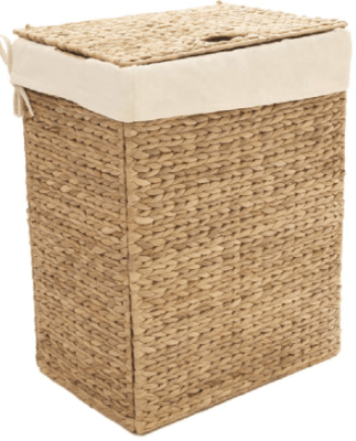 wicker garbage can