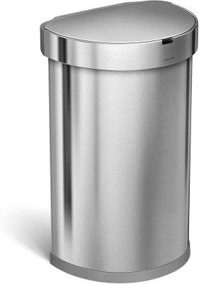 simplehuman semi round sensor trash can