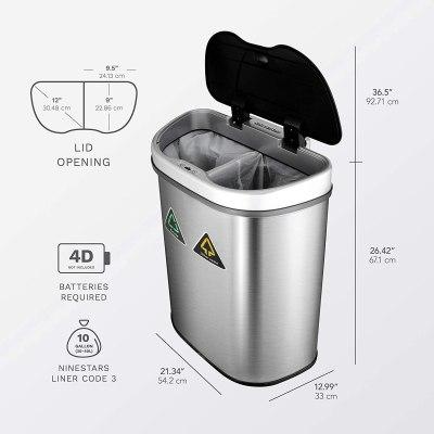 trash can with sensor