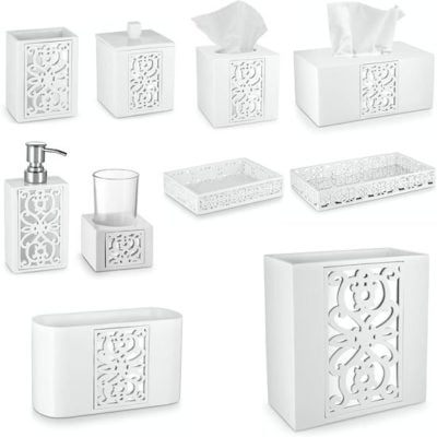 Bathroom Accessories Set With Trash Can