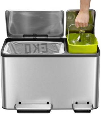 EKO Dual Compartment Recycle Step Trash Can