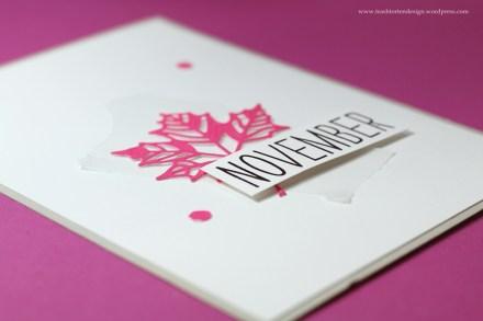 Karten basteln_Regenwetter_november_rain_stampinup_Blätter_neon_pink