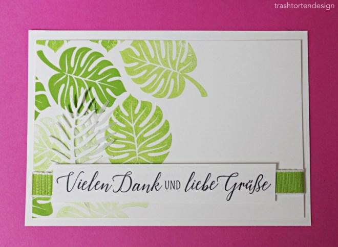 Tropenflair_Palmblätter_teamtreffen_danke_grüner Apfel_basteln_deko