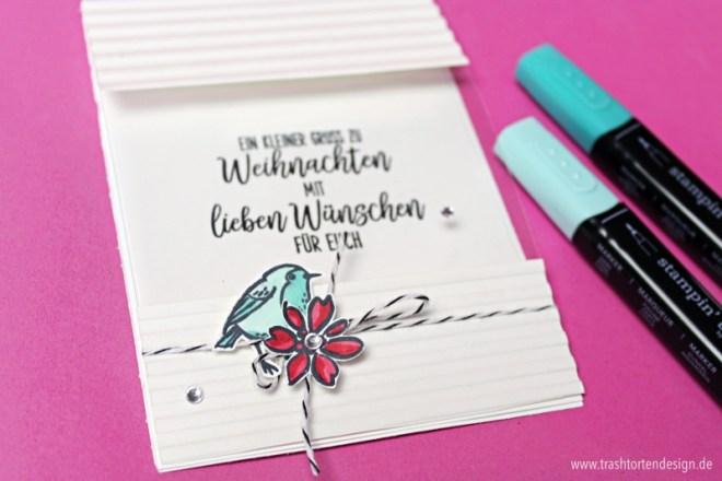 Folienkarte_Bloghop_Stampinfirst_Stampinup_gefiederte Weihnachten_trashtortendesign