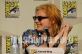 Gerard Way with blonde hair at Comic Con 2010
