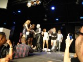 Nina Flowers joins the Denver queens on stage at the first show in the RuPaul's Drag Race 2011 tour