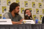 Jason Momoa and Merritt Patterson at the Wolves panel at San Diego Comic Con 2013