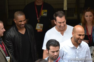 Damon Wayans Jr, Rob Riggle, and Keegan-Michael Key at Comic Con 2014