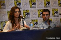Hannah Ware and Zachary Quinto at Comic Con 2014