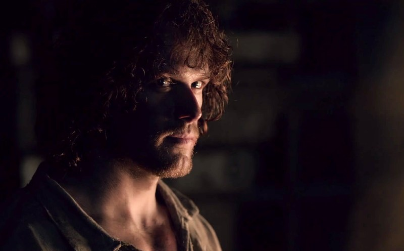 Sam Heughan as Jamie Fraser in Outlander on Starz