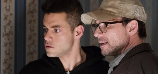 Rami Malek as Elliot Alderson, Christian Slater as Mr. Robot -- (Photo by: Peter Kramer/USA Network)