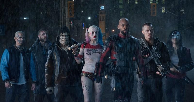 "(L-r) JAY HERNANDEZ as Diablo, JAI COURTNEY as Boomerang, ADEWALE AKINNUOYE-AGBAJE as Killer Croc, MARGOT ROBBIE as Harley Quinn, WILL SMITH as Deadshot, JOEL KINNAMAN as Rick Flag and KAREN FUKUHARA as Katana in Warner Bros. Pictures' action adventure ""SUICIDE SQUAD,"" a Warner Bros. Pictures release."