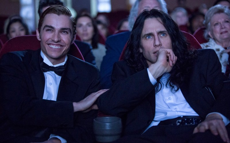 Dave Franco as Greg Sestro and James Franco as Tommy Wiseau in 'The Disaster Artist'