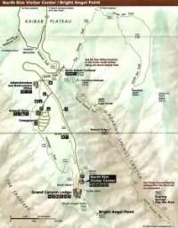 Mapa North Rim