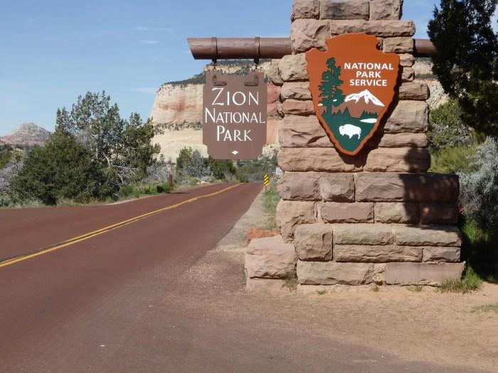 Entrada al Parque Nacional Zion