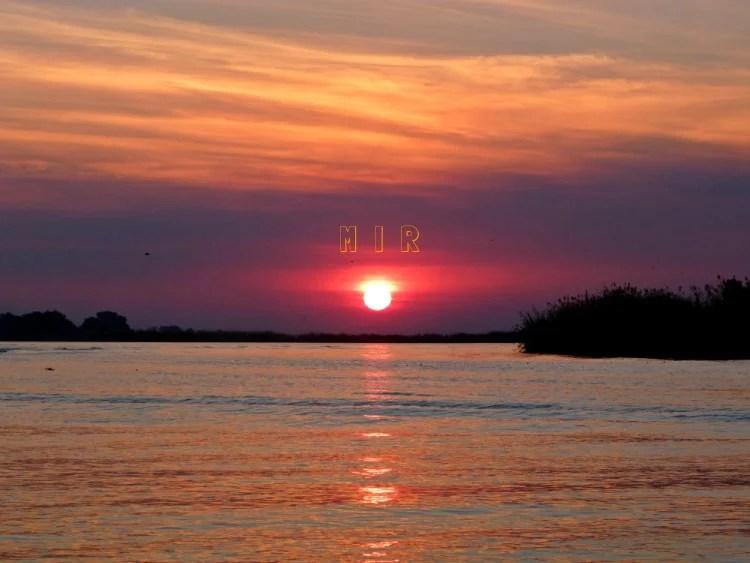 Puesta de sol en el P.N. de Chobe, Botswana
