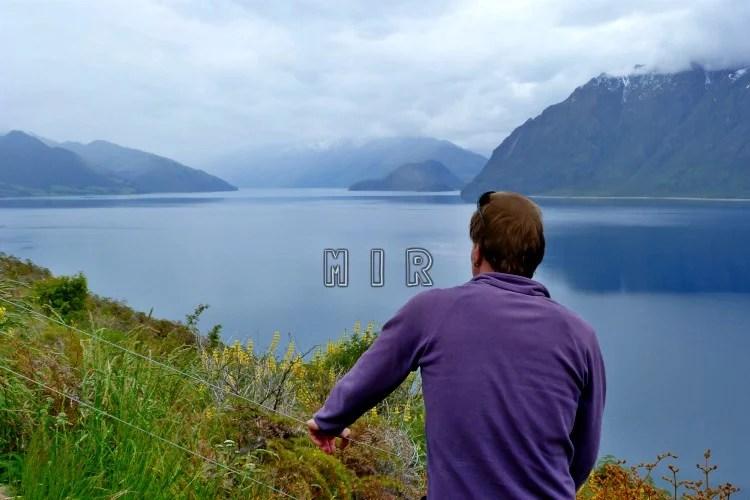 Lago Hawea, ruta de Haast a Wanaka