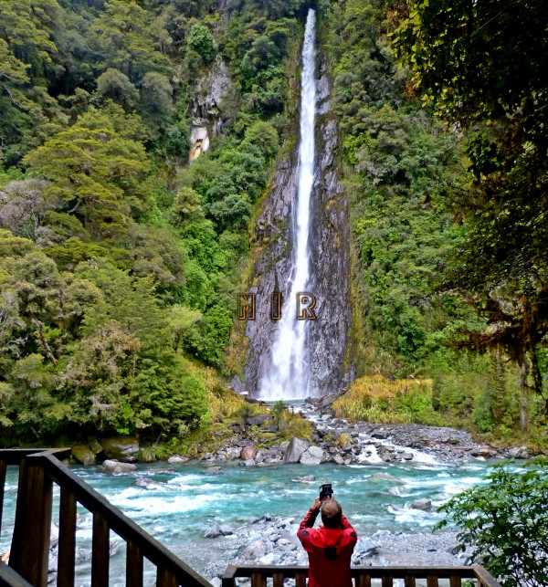 Thunder Creek Fall, ruta de Haast a Wanaka