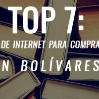 Top 7: lugares de internet para comprar libros en bolívares.