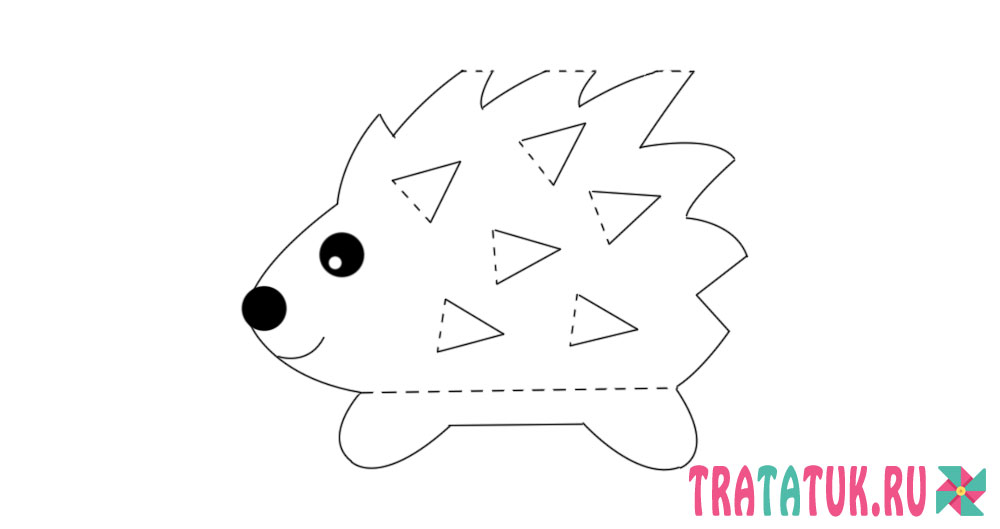Hedgehog from cardboard
