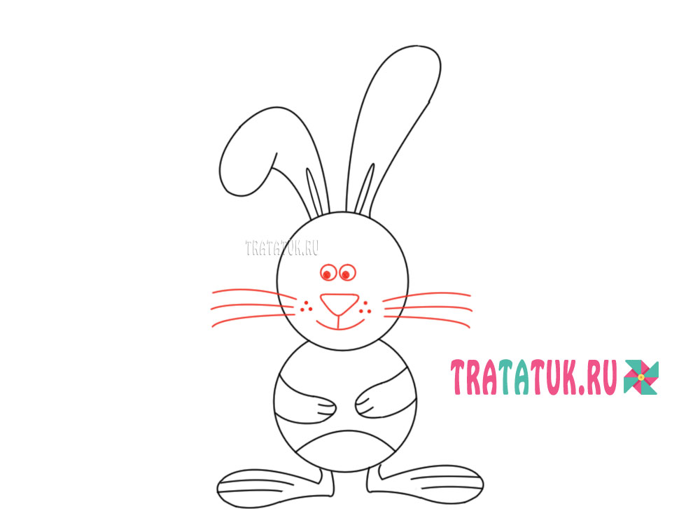 Sådan tegner du en kanin i etaper