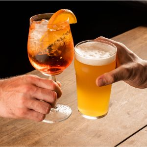 Cocktails et bières bio-locales chez Trattino