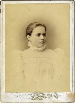 Мария Петровна Петренко (бабушка). Одесса, 1897