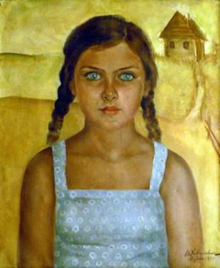 Портрет работы Валентины Ходасевич. Деревня Дубово, 1939
