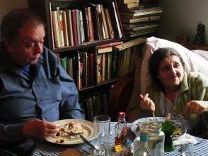 80-летие, с В.А.Успенским. Москва, Фортунатовская ул., 2008