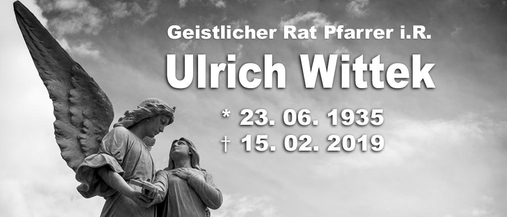 Geistlicher Rat Pfarrer i. R. Ulrich Wittek