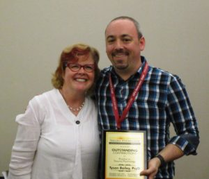 Tyson Bailey receives Outstanding Contributions to Practice Award