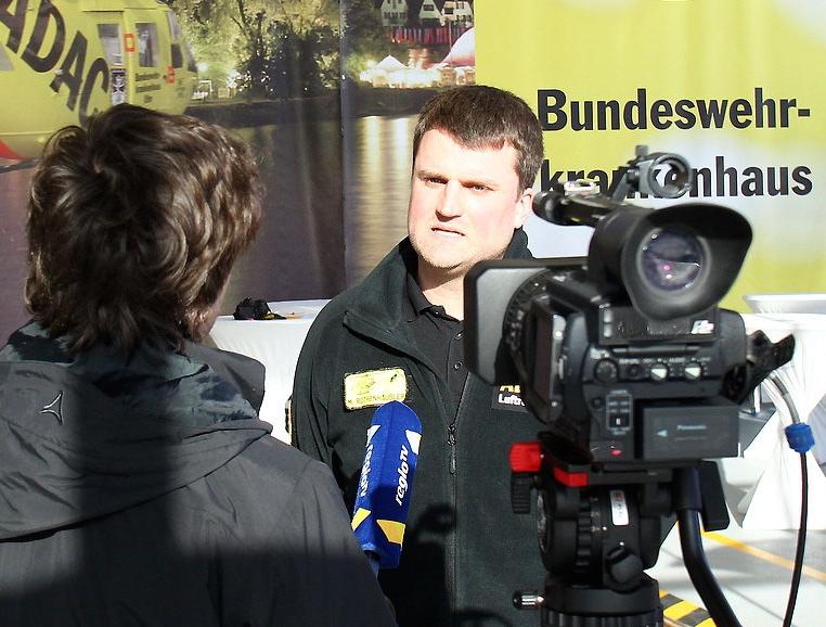 Pilot M. Rothenhäusler im Interview mit RegioTV
