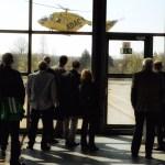 Vertreter des Innenministeriums beobachten den Start von CHRISTOPH 22