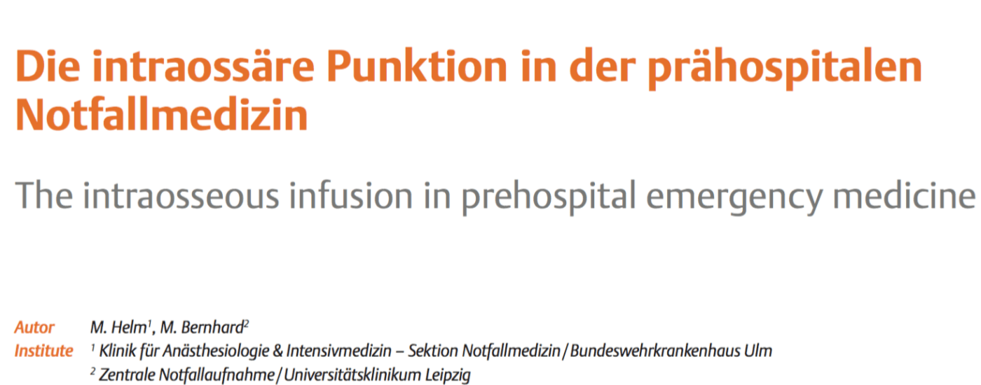 intraossäre Punktion