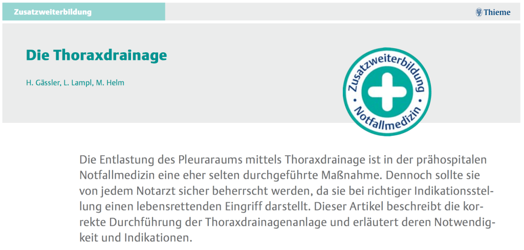 Thoraxdrainage