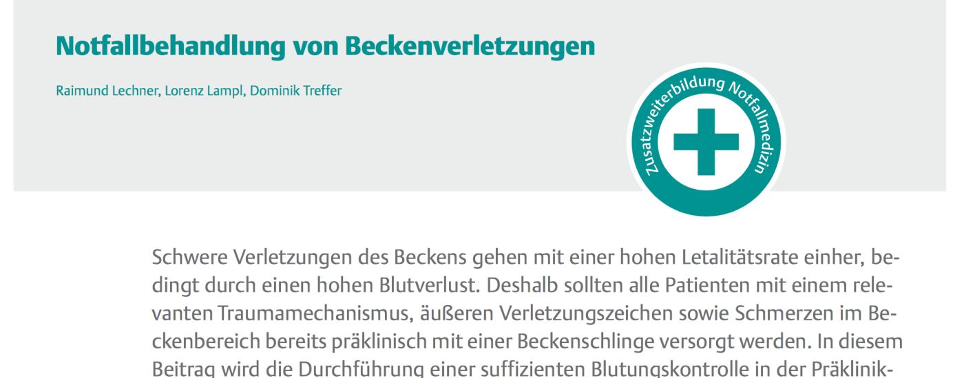 NOTARZT Beckentrauma