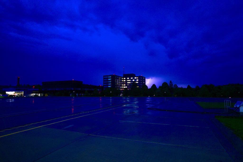 Bundeswehrkrankenhaus Ulm Gewitter Regenbogen