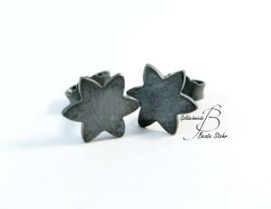 Ohrring Stern schwarz 3