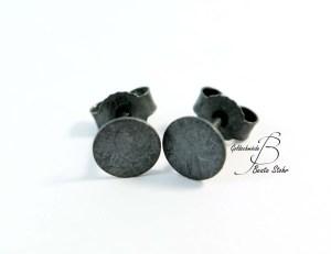 Ohrringe Platte schwarz